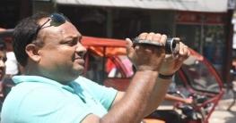 জয়পুরহাটের বিটিভির সাংবাদিক মিন্টু  সড়ক দুর্ঘটনায় আহত