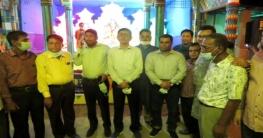 জয়পুরহাট সদরে বিভিন্ন পূজা মন্ডপ পরিদর্শন করেন পুলিশ সুপার